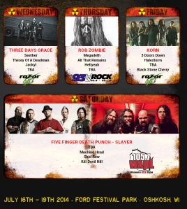 Rock USA lineup ( Pic from their site)
