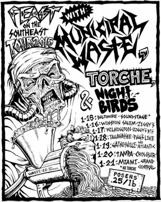 Municipal Waste Announce Mini 2015 Tour With Torche Night Birds