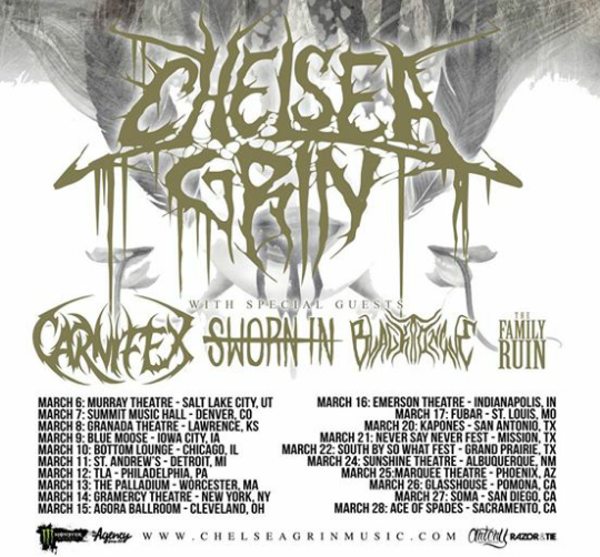Chelsea Grin Announce 2015 Tour With Carnifex, Sworn In, Black