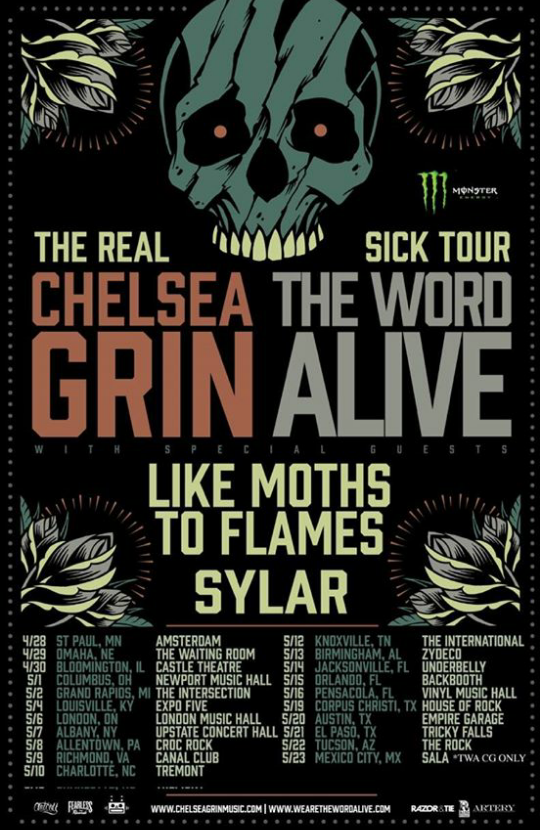 Chelsea Grin Word Alive Tour