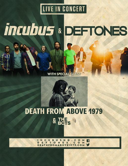 incubus confirm london eventim apollo show tue 10 feb 2015 incubus ...