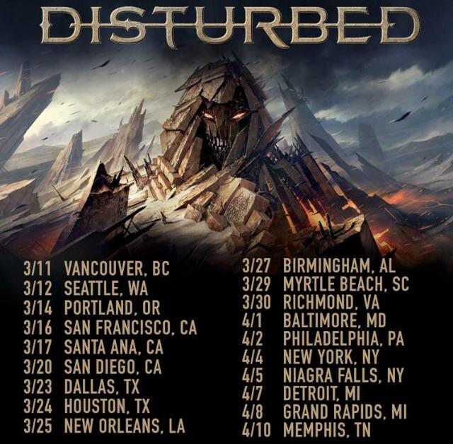 Disturbed Song List  Tour
