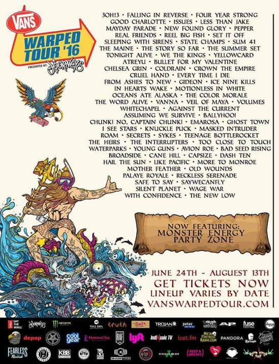 afe61e67f0 Lineup Revealed For 2016 Vans Warped Tour | Metal Anarchy