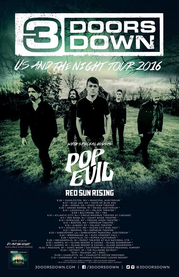 Pop Evil Tour Dates