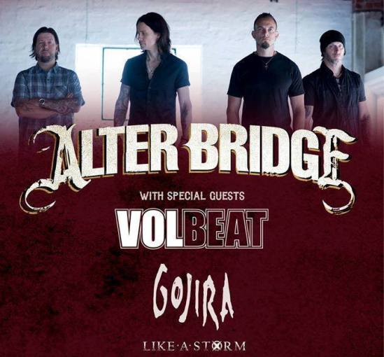 alter bridge announce 2016 european uk tour with volbeat gojira like a storm metal anarchy. Black Bedroom Furniture Sets. Home Design Ideas