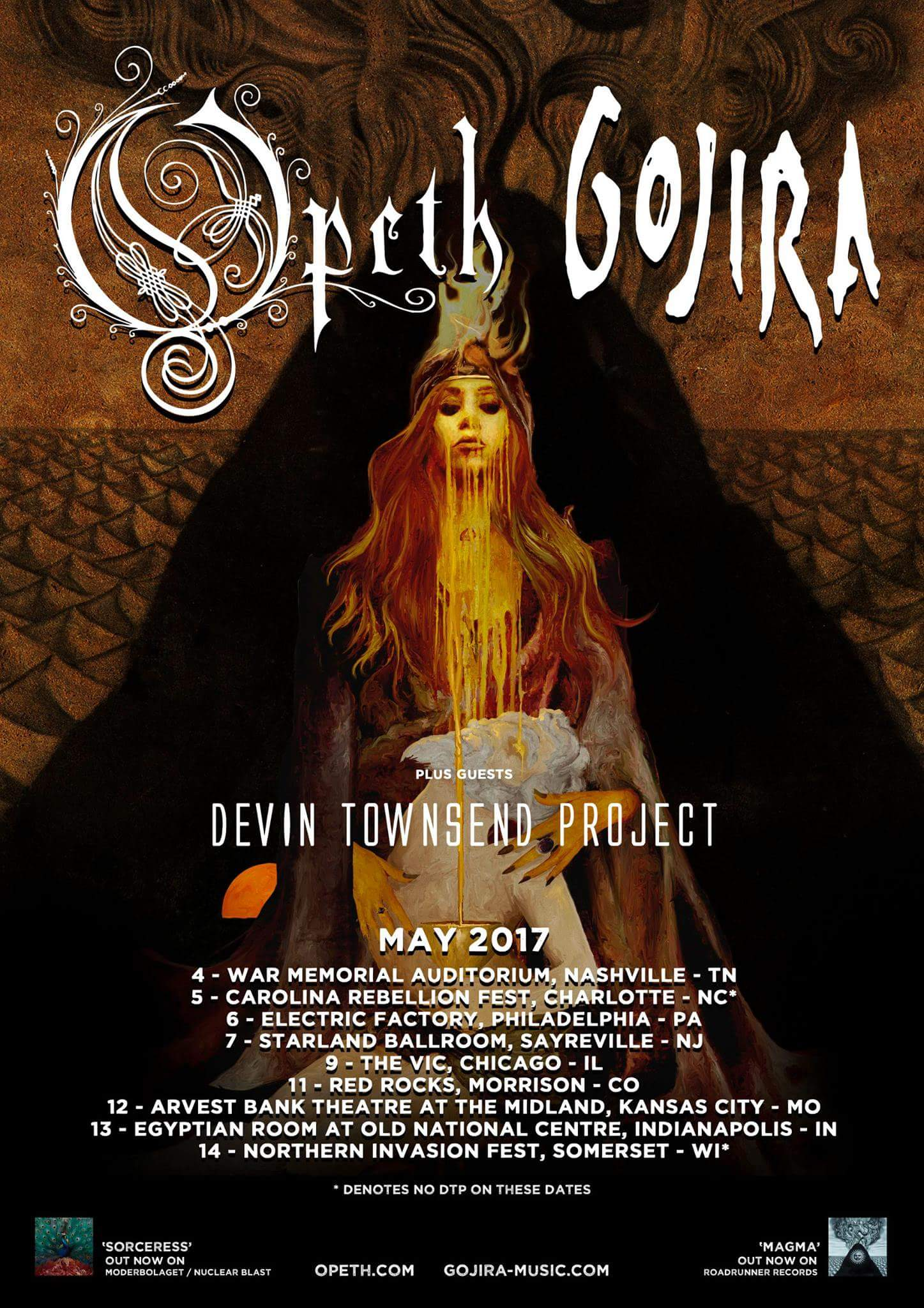 Devin Townsend Project Added To Opeth & Gojira's 2017 U S  Tour