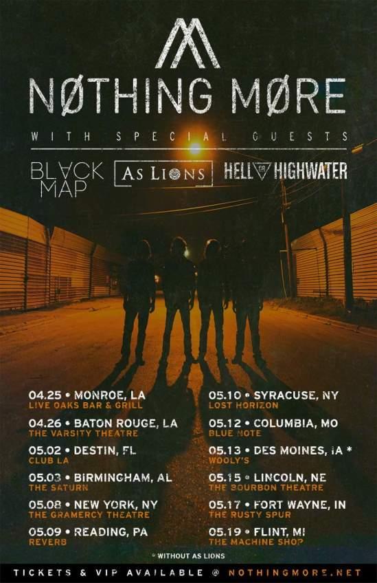 Nothing more tour dates in Brisbane