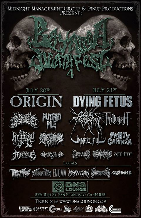 Origin, Dying Fetus, Cattle Decapitation, Etc. Set For 2017 Bay Area Death  Fest | Metal Anarchy