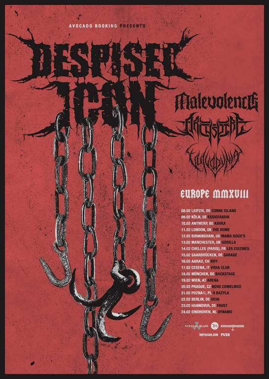 Despised Icon Announce 2018 European Uk Tour With Malevolence Archspire Vulvodynia
