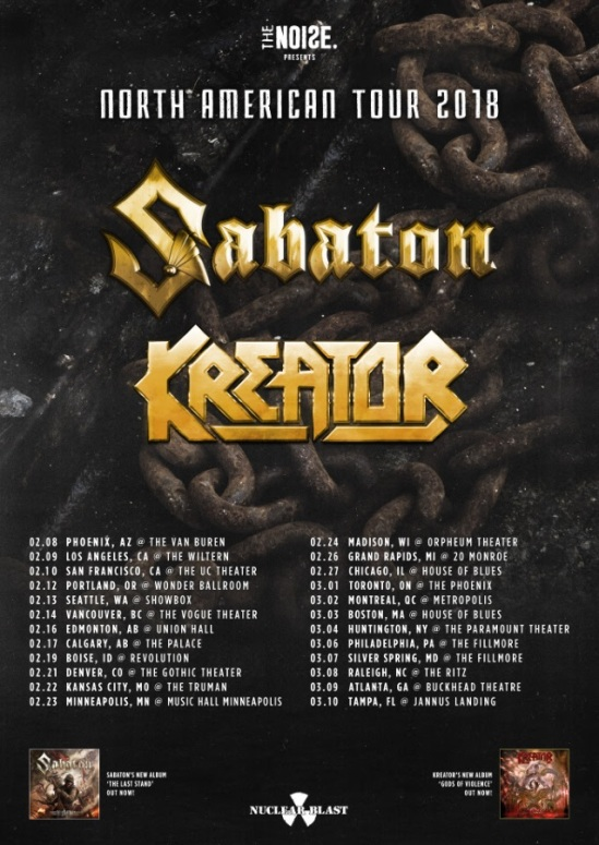 Sabaton North American Tour