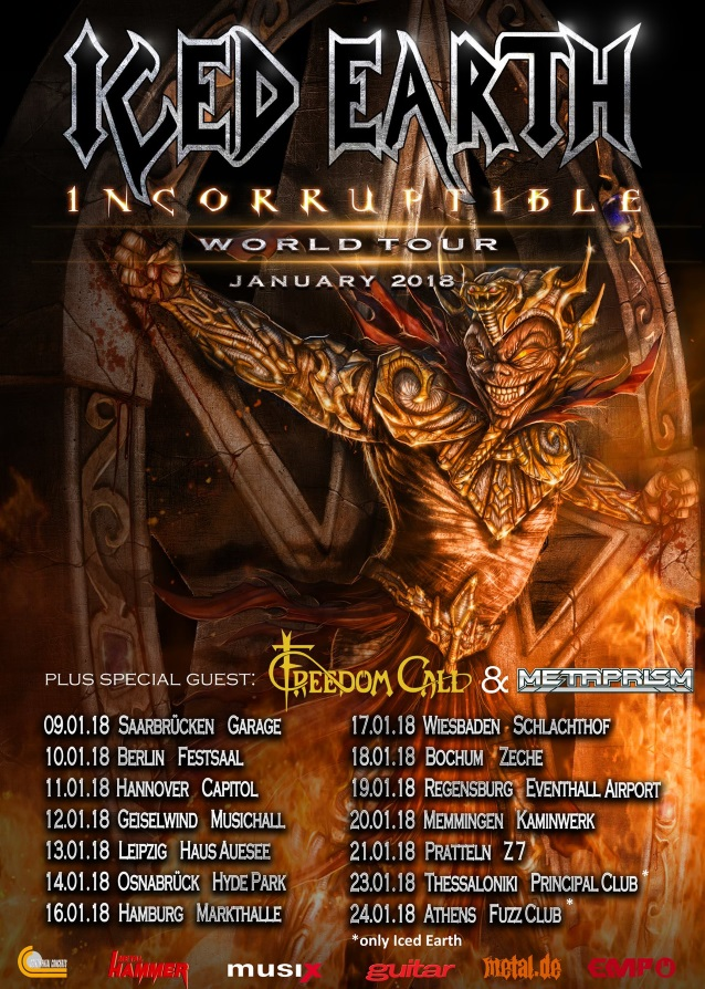 Iced Earth Announce 2018 European Tour With Freedom Call