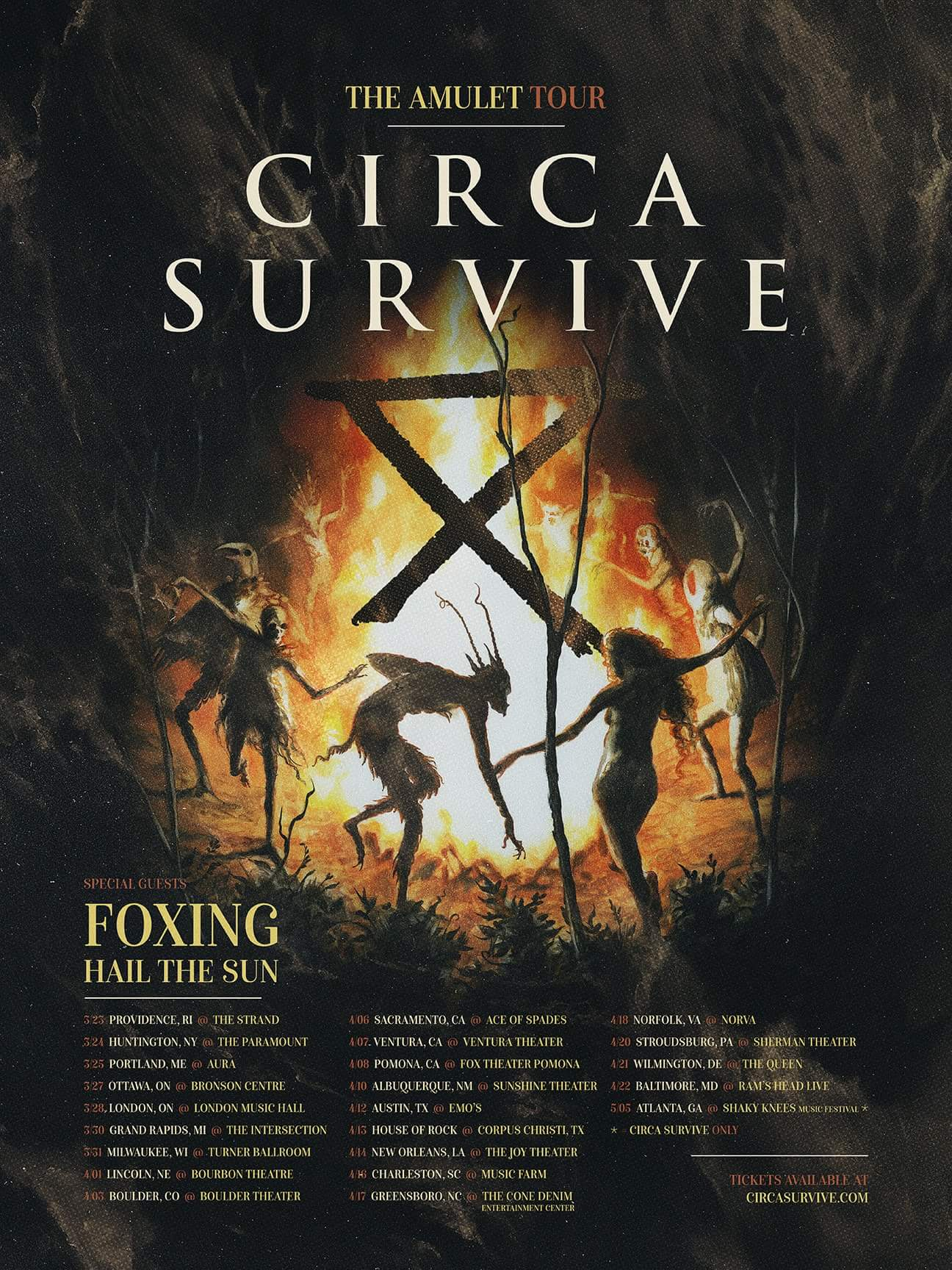 Circa Survive Announce 2018 North American Tour With Foxing & Hail The Sun  | Metal Anarchy