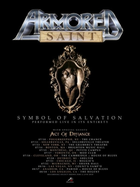 Armored Saint To Perform Symbol Of Salvation In Full On 2018 Tour