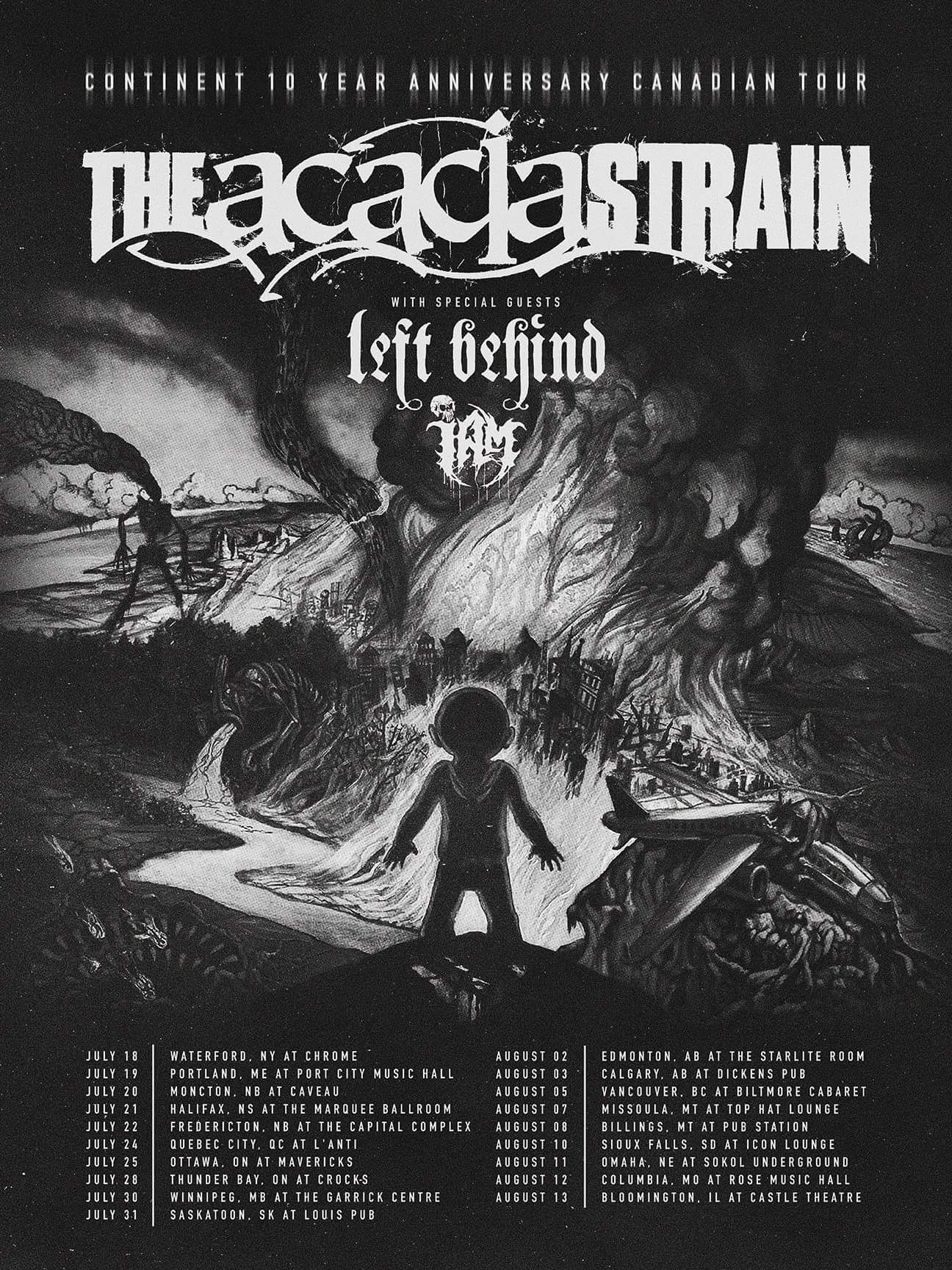 """The Acacia Strain Announce """"Continent"""" 10th Anniversary Tour 