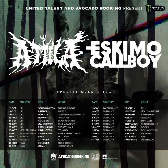 Attila & Eskimo Callboy Announce Fall European/UK Tour