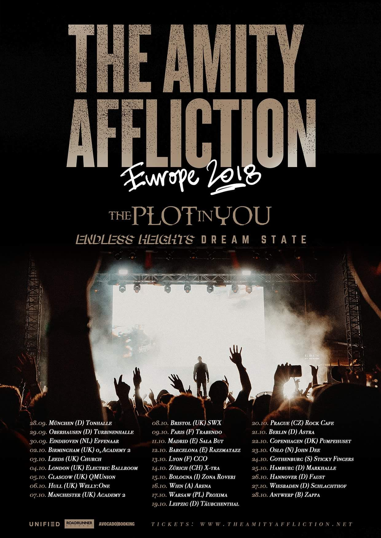 The Amity Affliction Announce European/UK Tour With The Plot In You, Dream  State, & Endless Heights | Metal Anarchy