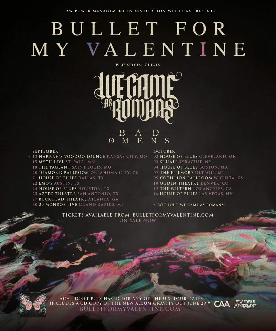 We Came As Romans & Bad Omens Added To Bullet For My
