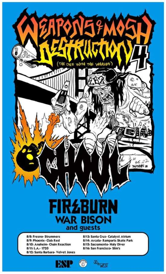 Ghoul Announce West Coast Tour With Fireburn & War Bison | Metal Anarchy