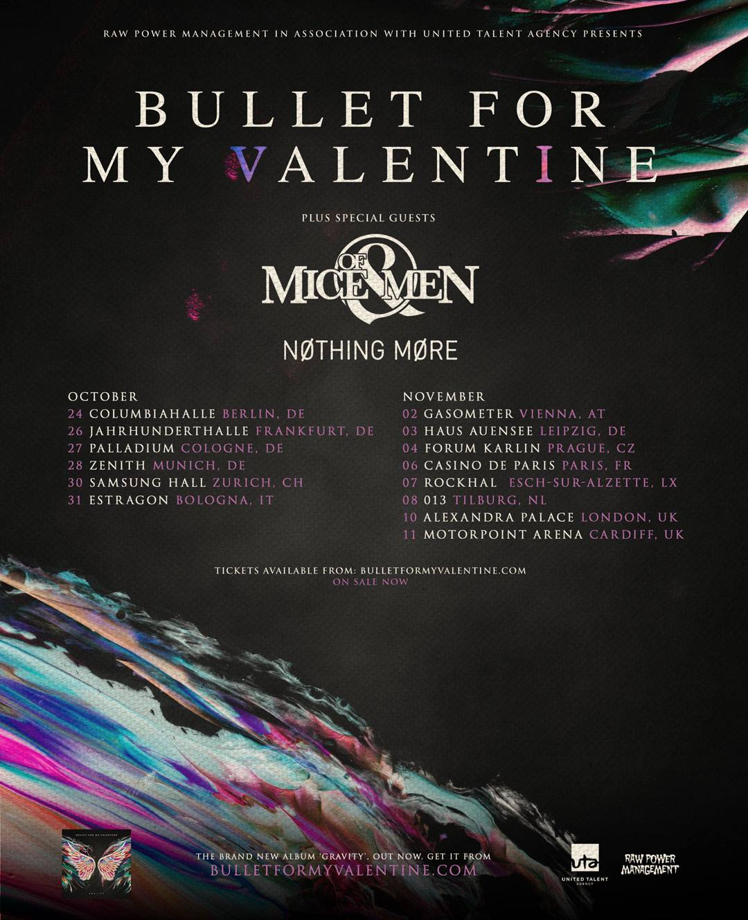 Nothing More Added To Bullet For My Valentine & Of Mice & Men's European/UK  Tour | Metal Anarchy