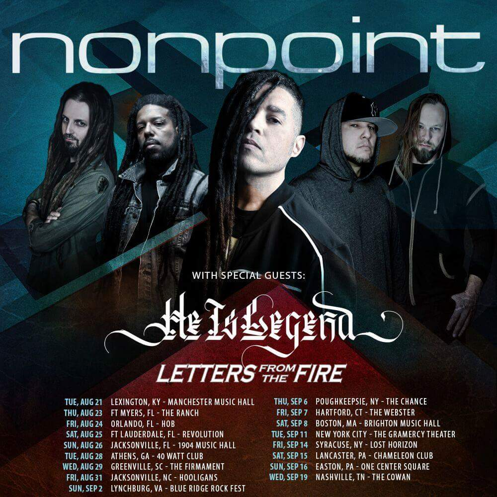 Nonpoint Announce Tour With He Is Legend & Letters From The Fire | Metal  Anarchy