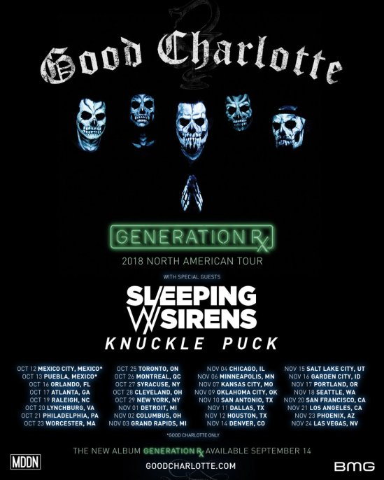 Who Is Touring With Good Charlotte