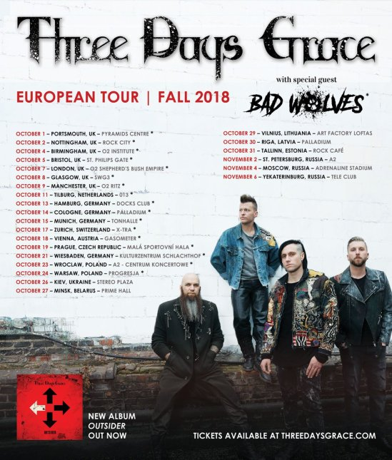 Bad Wolves Added To Three Days Grace's European Tour | Metal Anarchy