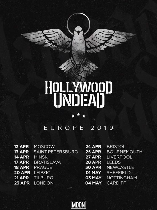Hollywood undead tour dates in Perth
