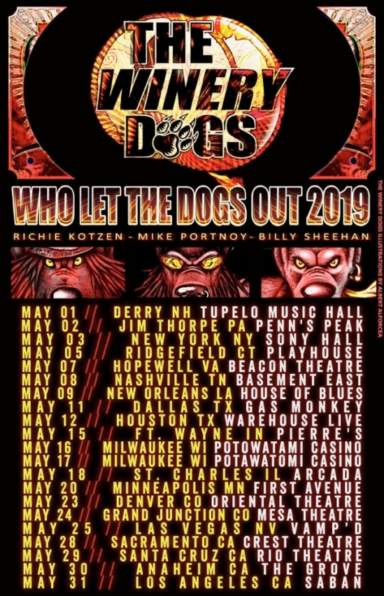 The Winery Dogs Announce May U S Tour Metal Anarchy