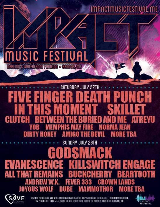 Five Finger Punchsmack Evanescence Etc Set For 2019 Impact Music Festival