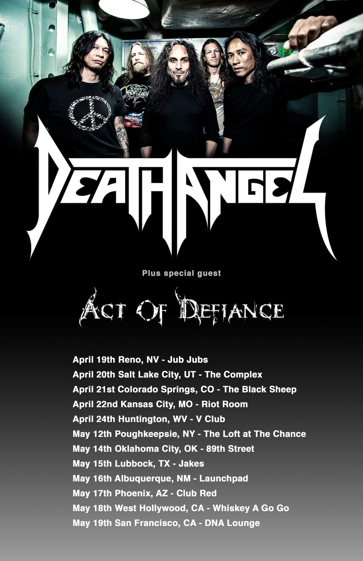Death Angel Announce Spring Tour With Act Of Defiance