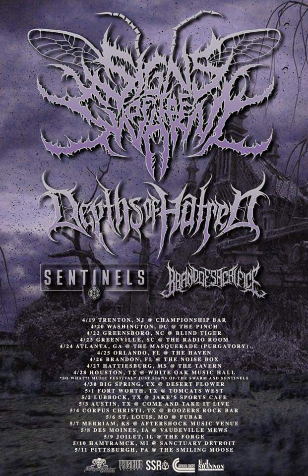 Signs Of The Swarm Announce U S Tour With Depths Of