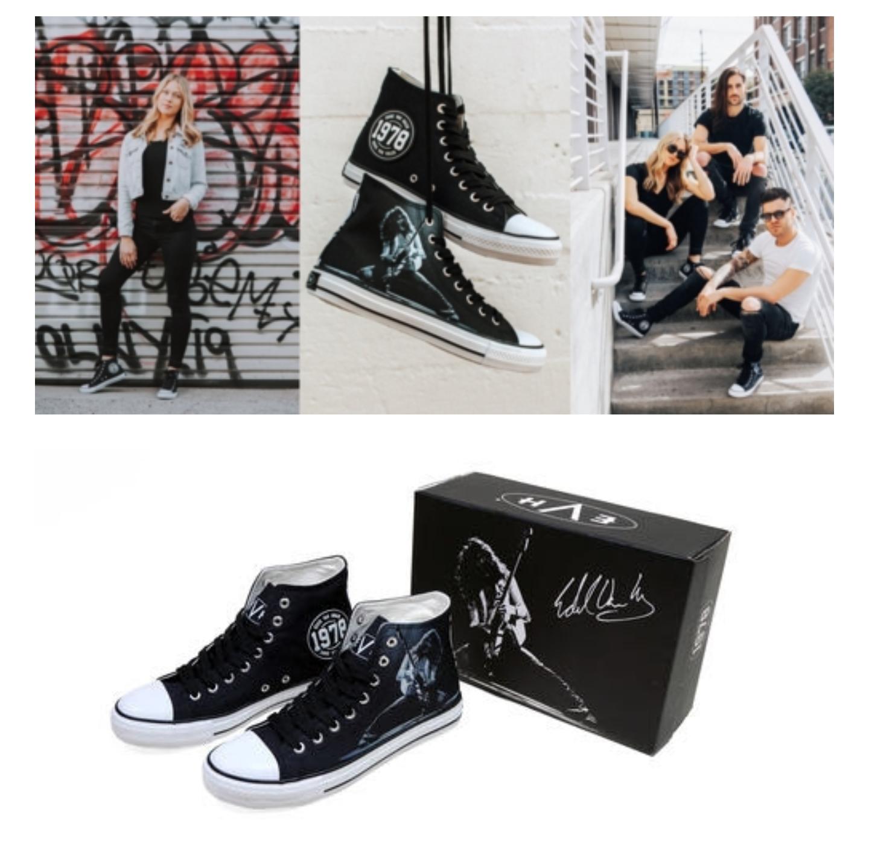 """44d2201f662 Eddie Van Halen Releases New """"1978 High Top"""" Sneaker"""