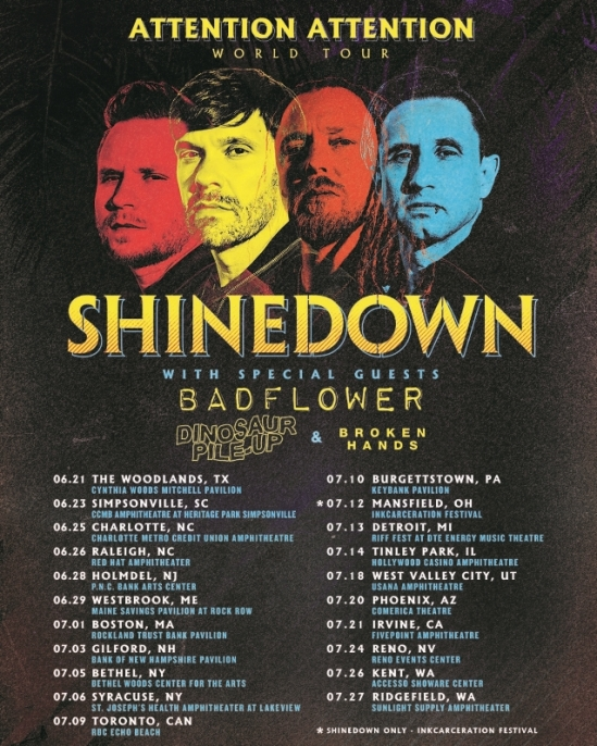 c4778d150b7 Shinedown Announce North American Tour With Badflower