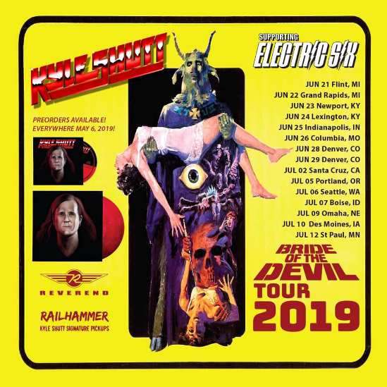Kyle Shutt (The Sword) To Support Electric Six On Their