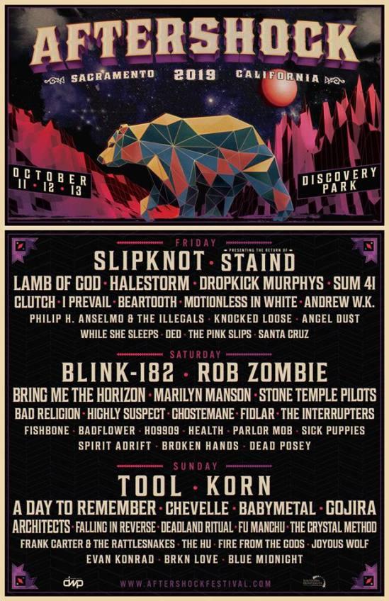 Slipknot Blink 182 Tool Staind Etc Set For 2019