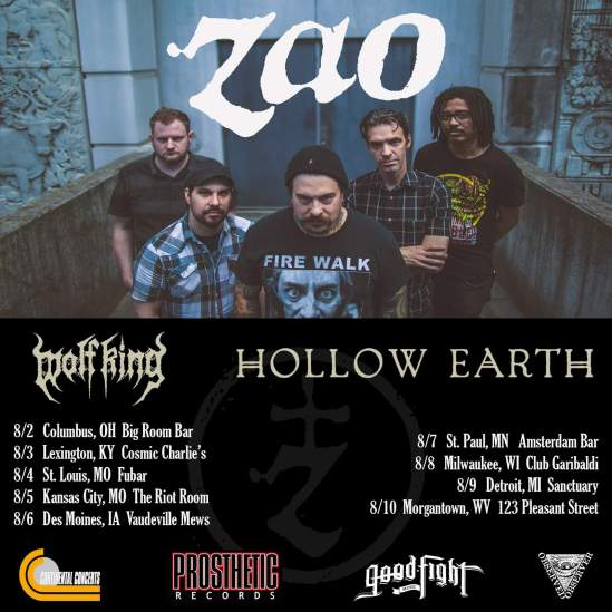 Zao Announce August Tour With Wolf King & Hollow Earth