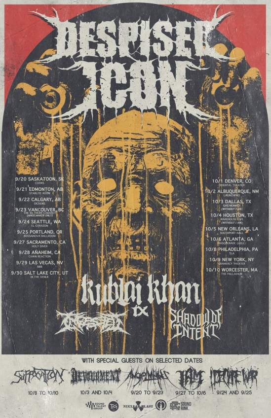 Despised Icon Announce North American Tour With Kublai Khan