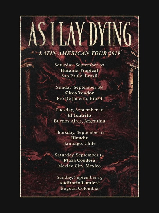 ab76a16f1 As I Lay Dying Announce Latin American Tour   Metal Anarchy