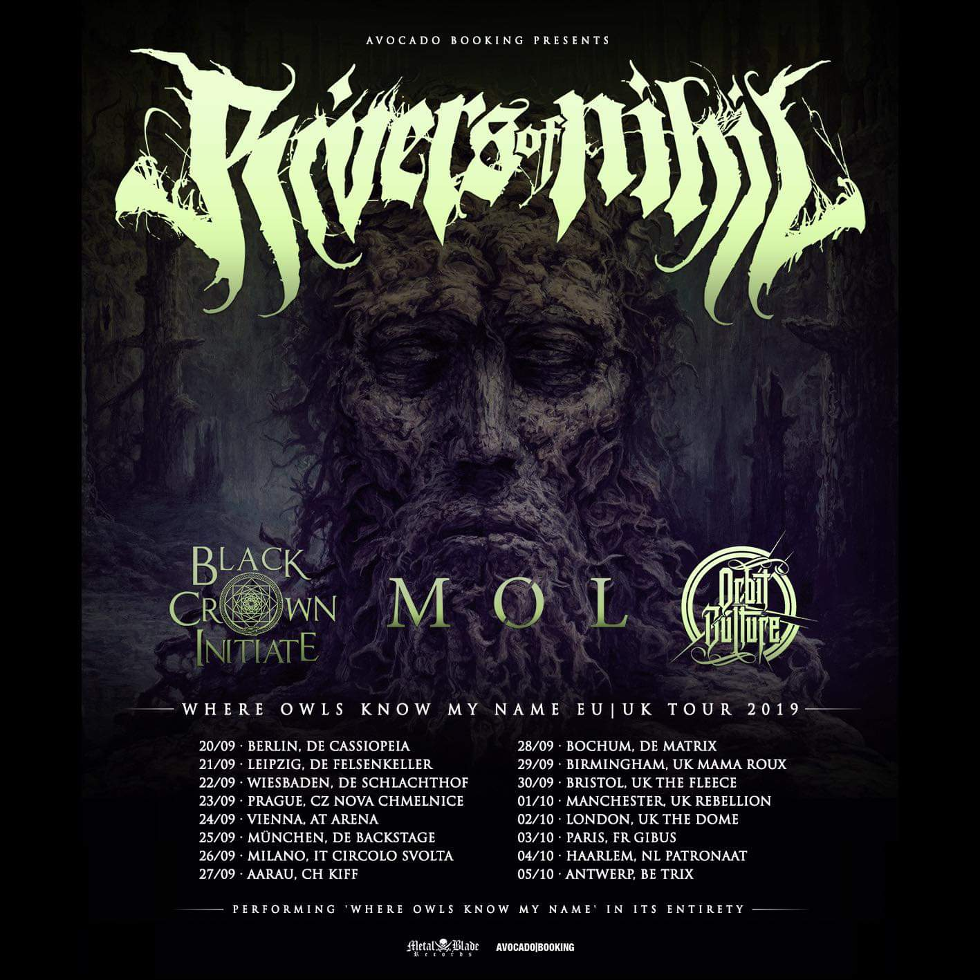 """cfbbd705c7883 Rivers Of Nihil To Perform """"Where Owls Know My Name"""" In Full On ..."""