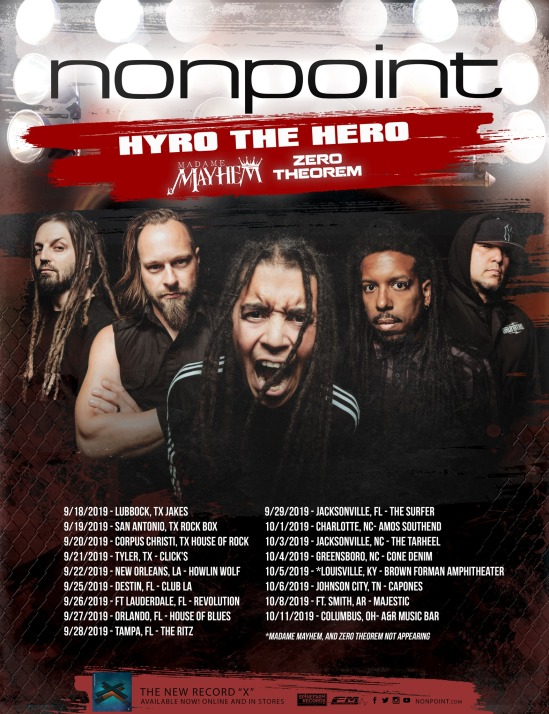 Acoustic Christmas 2019 Johnson City Tn.Nonpoint Announce Tour With Hyro The Hero Madame Mayhem