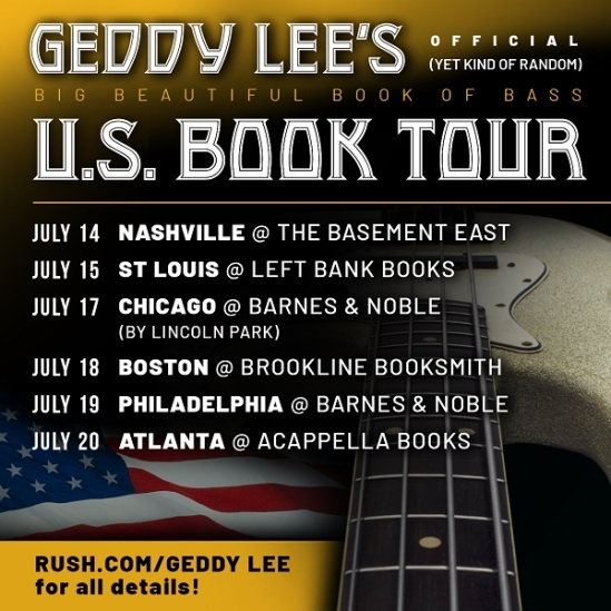 Rush's Geddy Lee Announces More U S  Book Signing Events