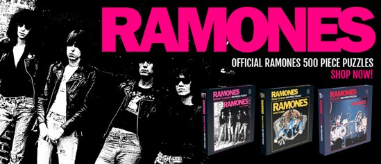 Three Ramones Jigsaw Puzzles To Be Released In September