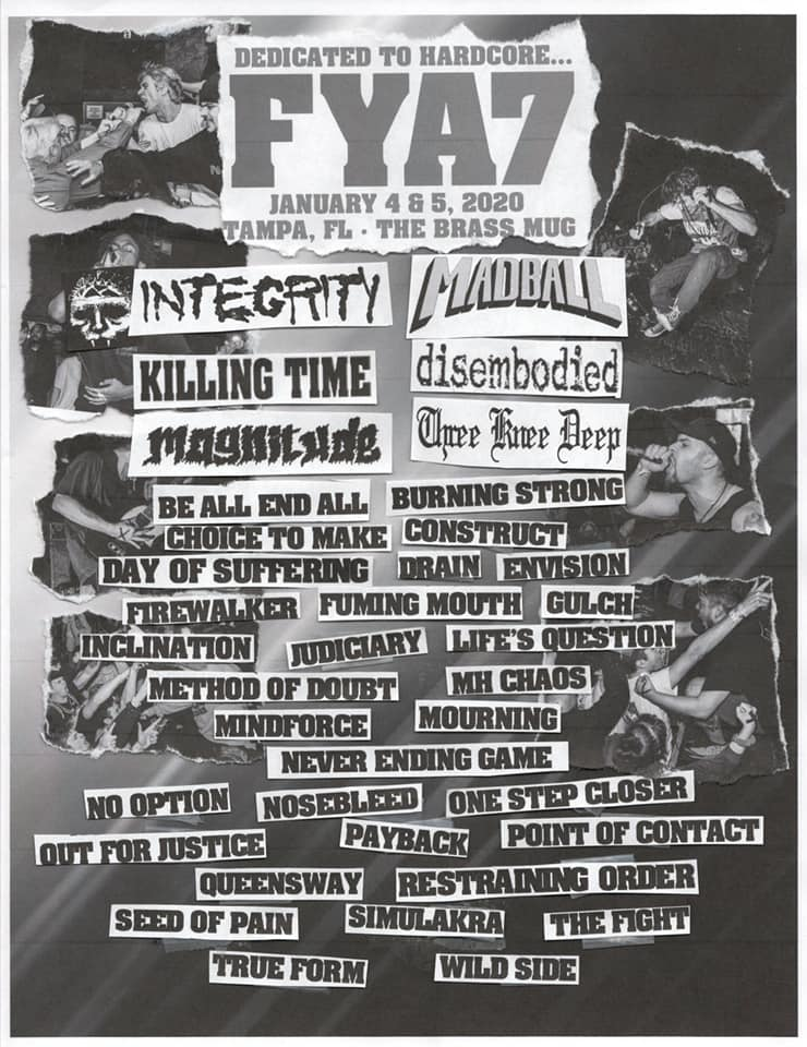 Integrity, Madball, Killing Time, Disembodied, Etc  Set For