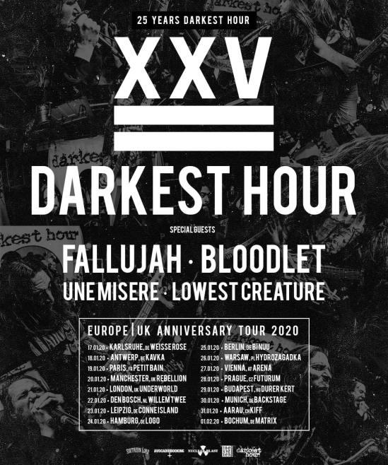 Darkest Hour Announce European/UK Tour With Fallujah