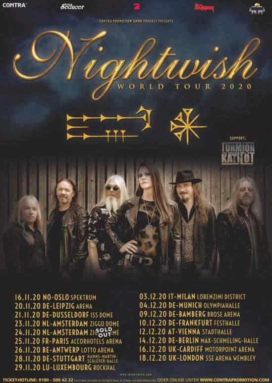 Seether Tour 2020.Nightwish Announce Fall 2020 European Uk Tour Metal Anarchy