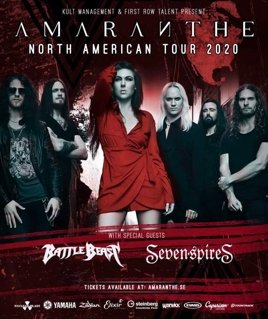 Seether Tour 2020.Amaranthe Announce 2020 North American Tour With Battle