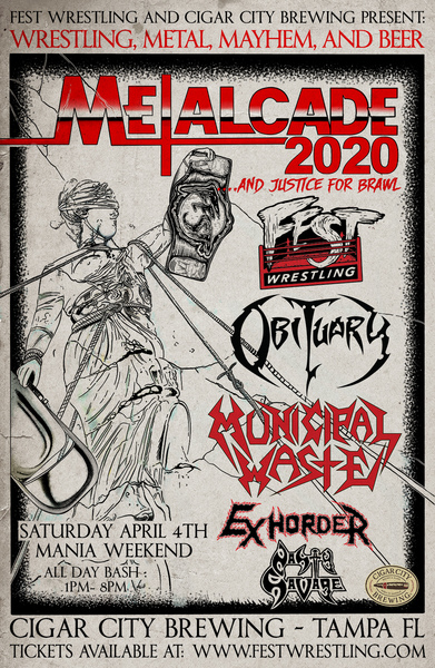 Mayhem Festival 2020.Obituary Municipal Waste Etc Set For Metalcade 2020