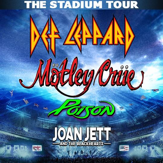 Def Leppard Journey Tour 2020.Def Leppard Motley Crue Poison Joan Jett The