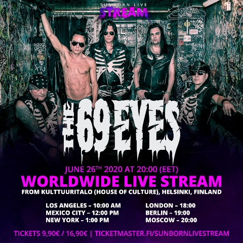 The 69 Eyes Announce Livestream Concert Metal Anarchy